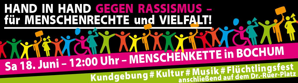 18. Juni  – Menschenkette in Bochum